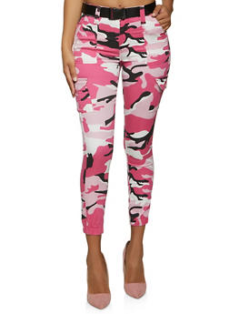 VIP Cargo Camo Belted Joggers - 1074065302902