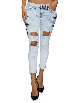 VIP Acid Wash Destruction Jeans - 1074065303389