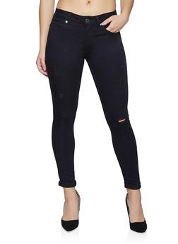 VIP Black Distressed Skinny Jeans - 1074065306251