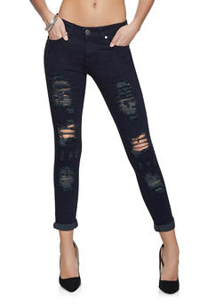 VIP Destroyed Roll Cuff Jeans - 1074065306479