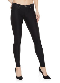 Black Push Up Jeggings - 1074065306670