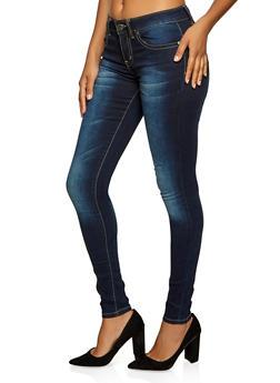 VIP Basic Whisker Wash Skinny Jeans - 1074065307761