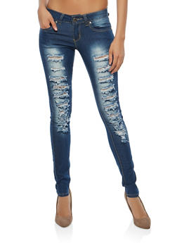 VIP Faded Destruction Push Up Jeans - 1074065307764