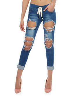 VIP Destroyed Jeggings - 1074065307803