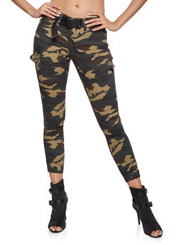 VIP Belted Green Camo Cargo Joggers - 1074065308050
