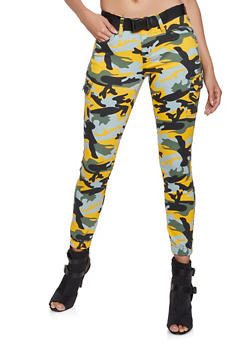 VIP Camo Belted Denim Cargo Joggers - 1074065308059
