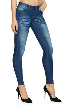 VIP Whisker Wash Push Up Jeans - 1074065308390