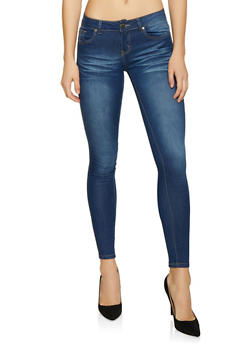 VIP Whisker Wash Push Up Jeans - 1074065308395