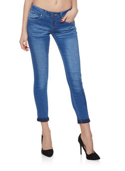 VIP Faded Push Up Skinny Jeans | Light Wash - 1074065308398