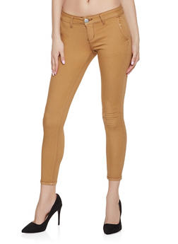 Solid Twill Pants | Brown - 1074065308566
