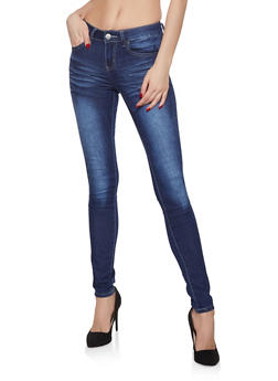VIP Whisker Wash Push Up Jeans - 1074065308648
