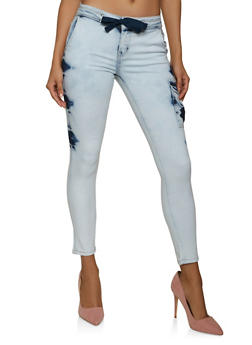 VIP Cloud Wash Skinny Cargo Jeans - 1074065309053