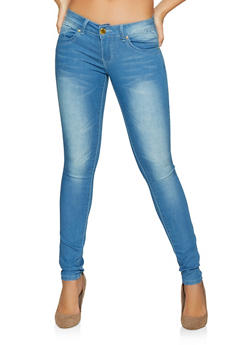 VIP Whiskered Push Up Skinny Jeans | Light Wash - 1074065309315