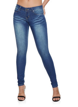 VIP Whisker Wash Push Up Jeans - 1074065309989