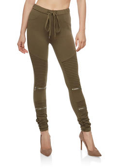 Ruched Moto Jeggings - 1074068190197