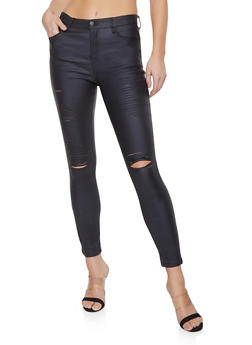 Shinestar Coated Skinny Jeans - 1074068193024