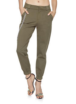 Chain Detail Cargo Pants - 1074068193127