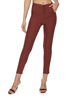 High Waisted Stretch Pants - 1074068193310