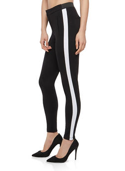 Side Stripe Skinny Pants - 1074068193669