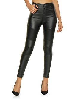 Coated Moto Skinny Jeans - 1074068193923