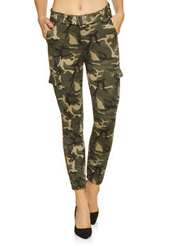 Belted Camo Cargo Pants - 1074068194123