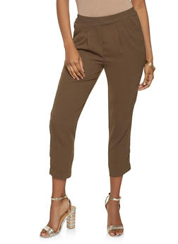 Pleated Pull On Dress Pants - 1074068197116