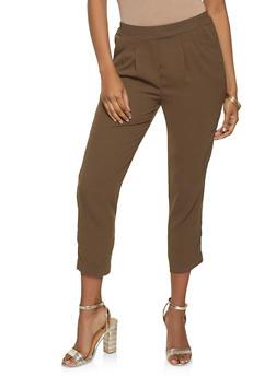 Pleated Pull On Dress Pants - 1074068197116
