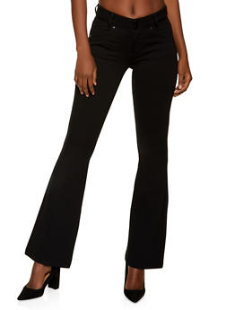 Ponte Flared Dress Pants - 1074068197848