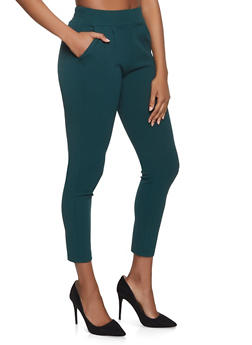 Crepe Knit Dress Pants - 1074068199790