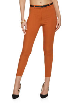 Belted Twill Dress Pants - 1074069397539
