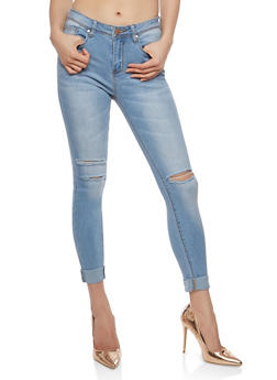 Ripped Knees Skinny Jeans - 1074069398645
