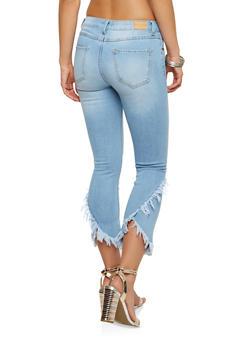 Frayed Whisker Wash Jeans - 1074069398673