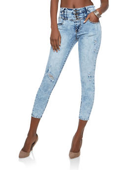 Highway High Waisted Acid Wash Jeans - 1074071311322