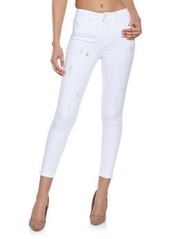 Highway Frayed Whisker Wash Jeans - 1074071311411
