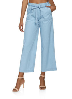 Highway Chambray Palazzo Pants - 1074071311414