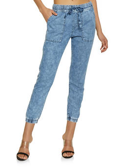 Highway Pull On Chambray Joggers - 1074071319131
