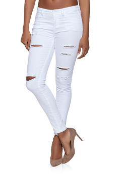WAX Ripped Skinny Jeans - 1074071610003