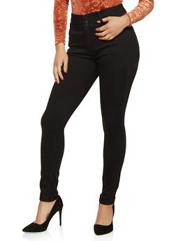 WAX 3 Button High Waisted Jeans - 1074071610004