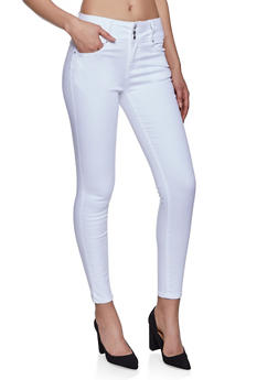 WAX 3 Button High Waisted Jeans - 1074071610004