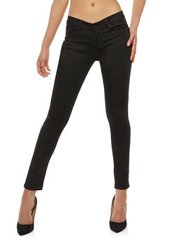 WAX Push Up Colored Skinny Jeans - BLACK - 1074071610031