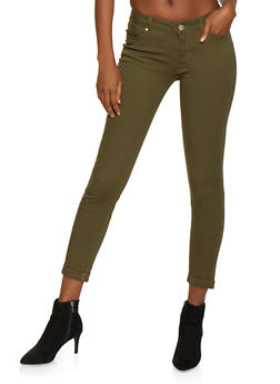 WAX Cuffed Stretch Jeans - 1074071610045