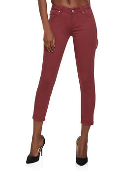 WAX Cuffed Stretch Jeans - 1074071610045