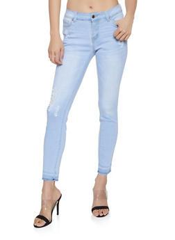 WAX Raw Hem Skinny Jeans - 1074071610049