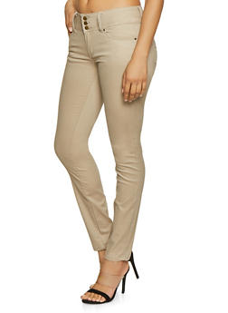 Brushed Twill Skinny Pants - 1074071610058