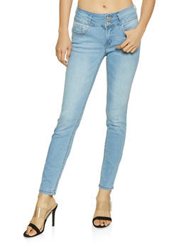WAX 2 Button Push Up Jeans - 1074071610066