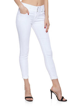 WAX 3 Button Push Up Jeans | 1074071610094 - WHITE - 1074071610094