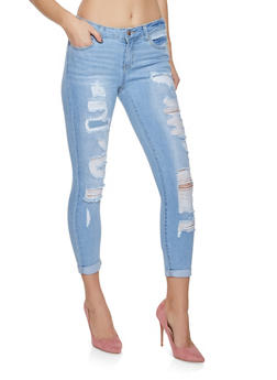 WAX Destroyed Skinny Jeans - 1074071610101