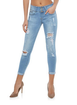 WAX Push Up Distressed Skinny Jeans - 1074071610117