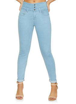 WAX 3 Button Push Up Jeans - 1074071610118