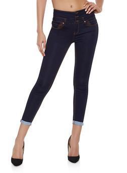WAX 3 Button Push Up Jeans | 1074071610118 - DARK WASH - 1074071610118